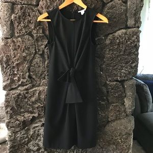 bar III Little Black Dress with gathered bow waist